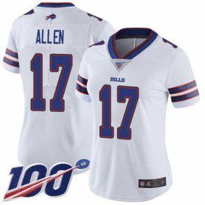 Women Bills Josh Allen 100th Season Jersey (4)